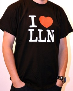 "T-shirt ""I love LLN"" for men"