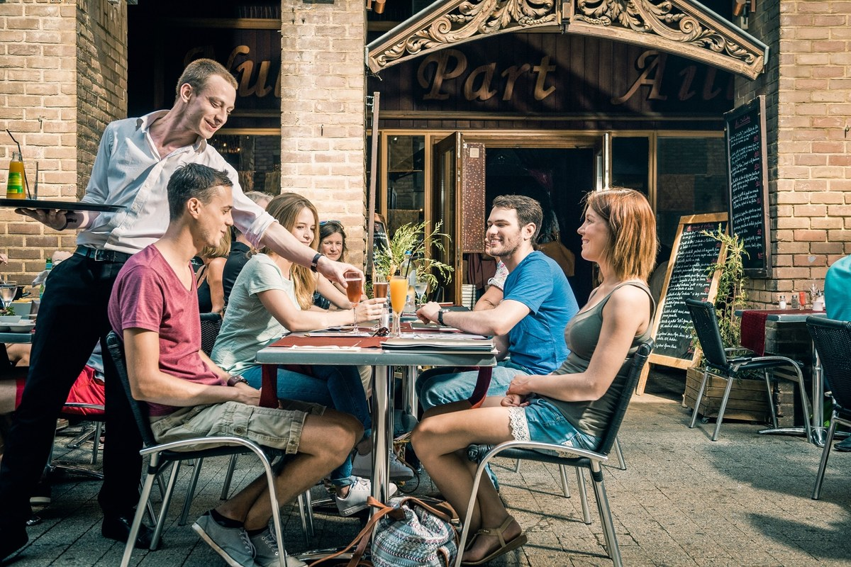 En terrasse au restaurant