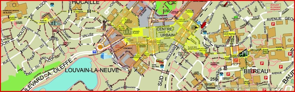 Zone masque obligatoire à LLN dès le 14 septembre à 7h
