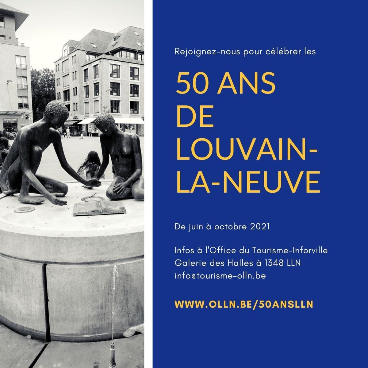 LLN 50th Birthday Invitation Gold Blue DEF