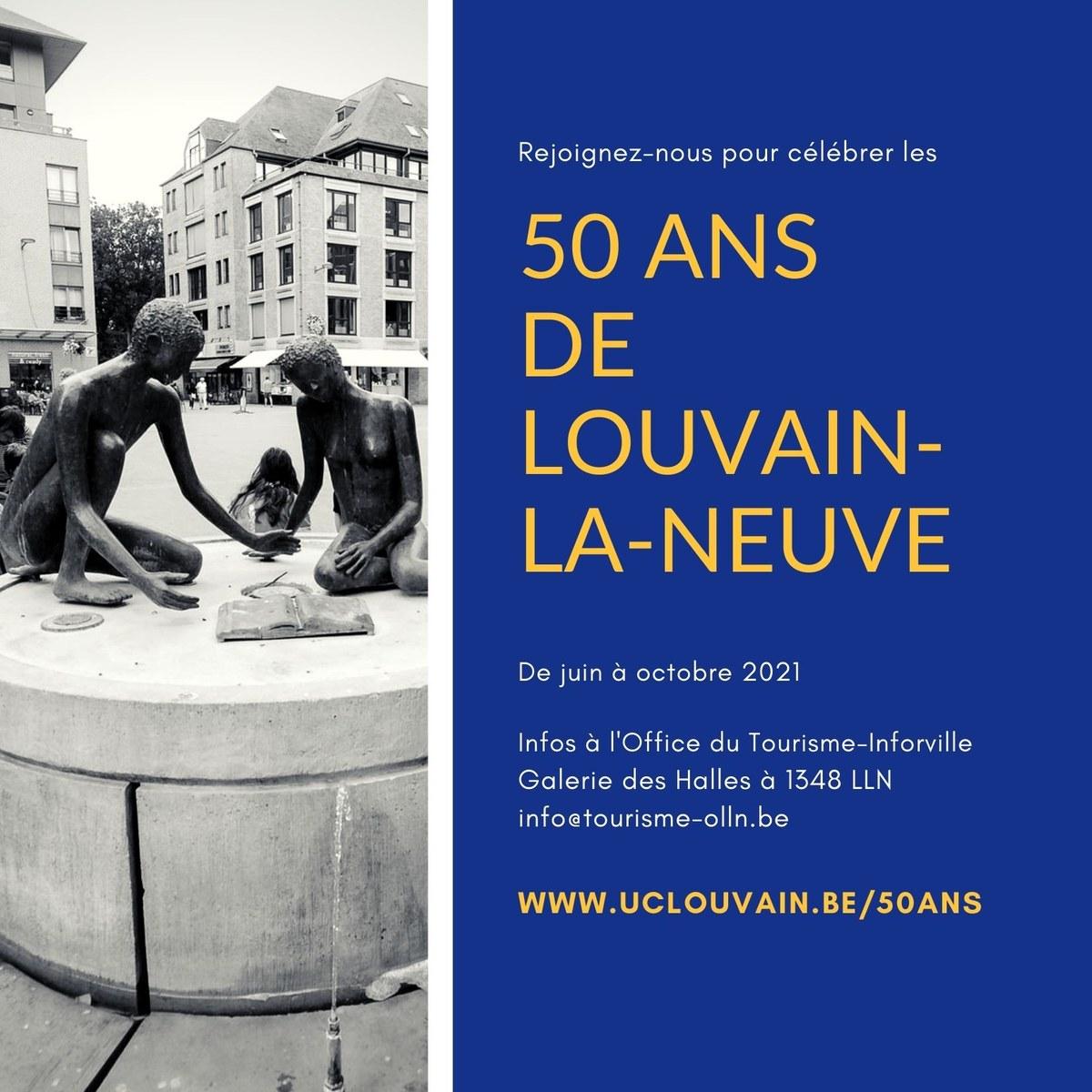 LLN 50th Birthday Invitation Gold Blue
