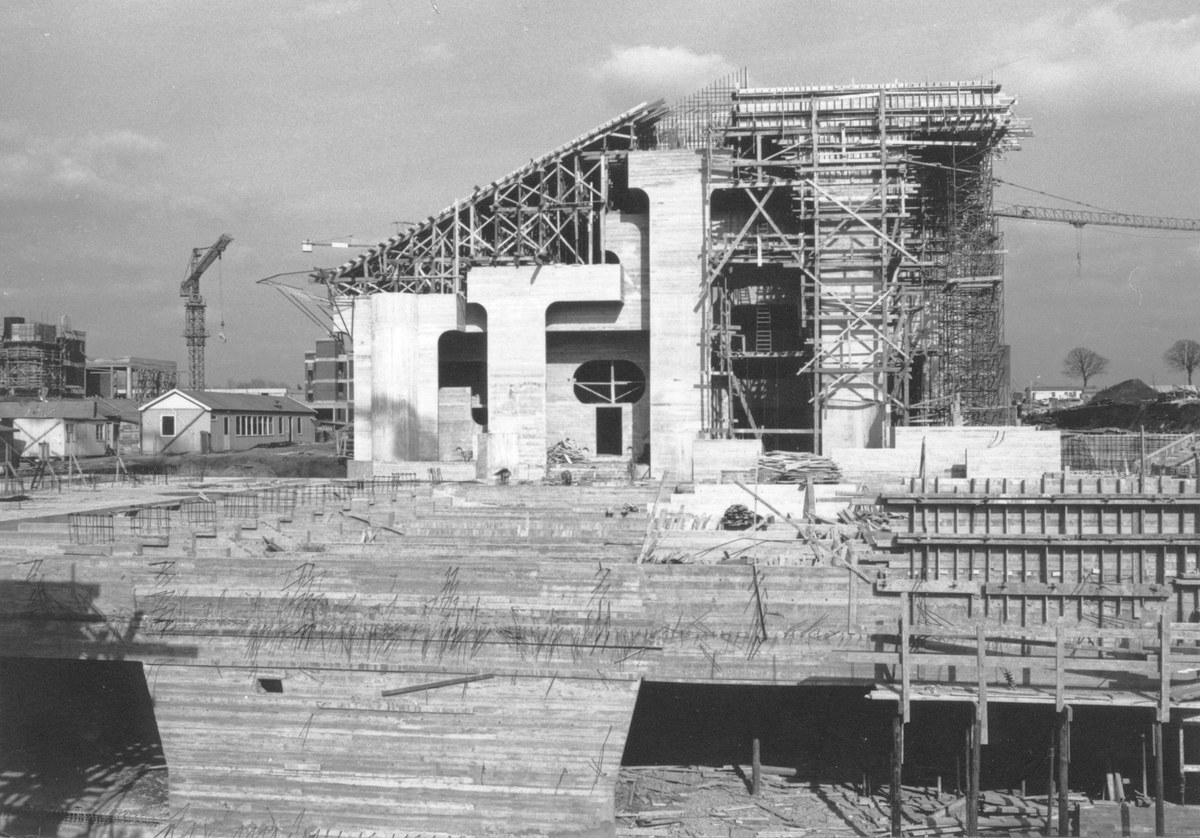 Construction de la place et bibliothèque des Sciences