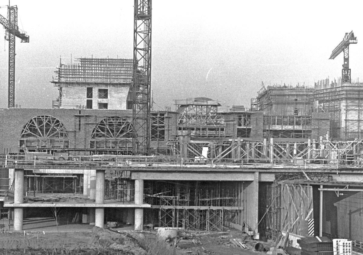 Les Halles Universitaires en construction