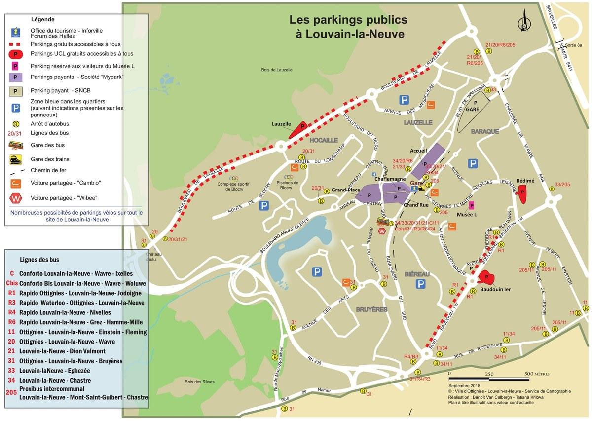 Plan parkings visiteurs