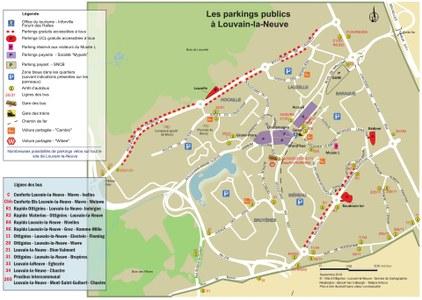 Plan des parkings visiteurs