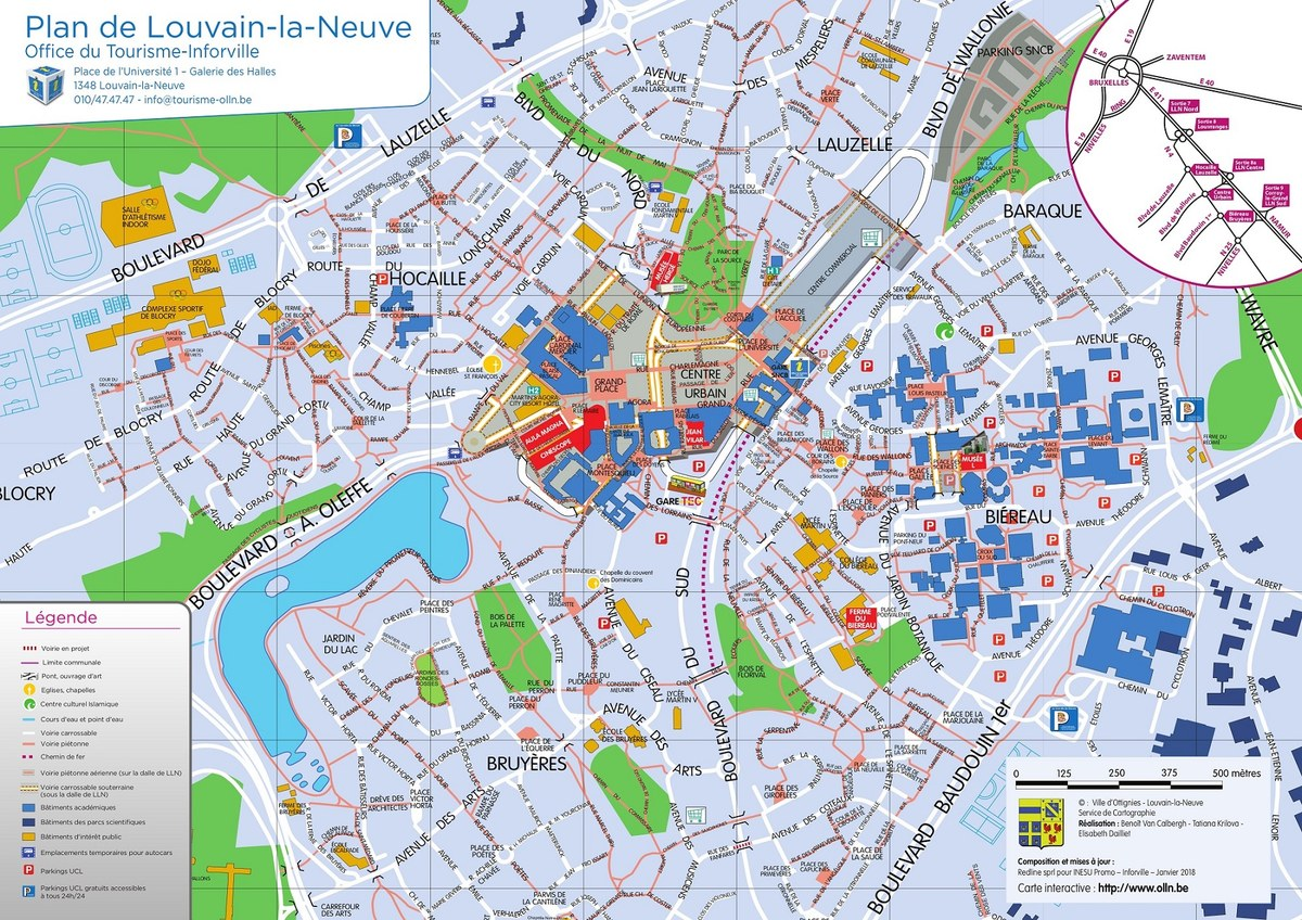 Plan de Louvain-la-Neuve A3