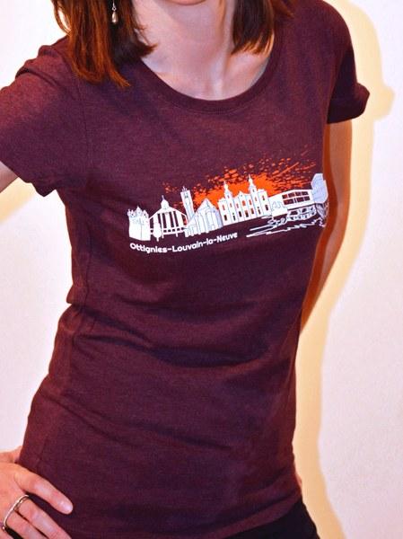 "T-shirt ""Skyline"" femme"